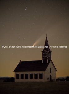 Comet Neowise over Old Rock Church