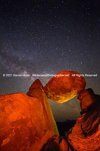 Balanced Rock and Milky Way