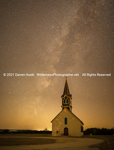 Rock Church and Milky Way Night