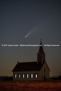 Comet Neowise over Rock Church