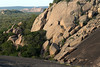 Echo Canyon - the northern end, between the northern slope of Little Rock - and exfoliated western slope of Enchanted Rock - distal is Dutch Mtn. and Watch Mtn.