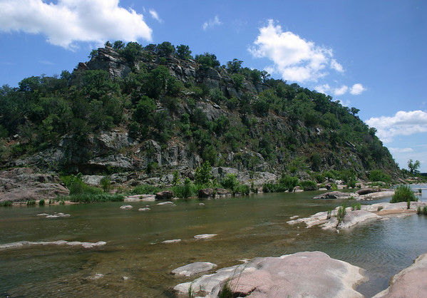 Igneous granite - meets the sedimentary limestone - with the Llano River between.