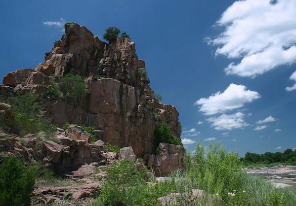 Eagles Beak - a granite outcrop upon a river island, along the Llano River.