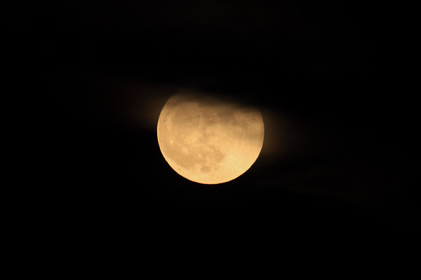 Blue Moon - amongst a slow passing cloud on Halloween of 2020.