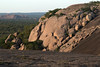 Days last rays upon Little Rock - Enchanted Rock - Watch Mountain.