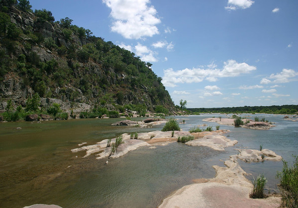 Down the Llano River - among the granite riverbed, and limestone bluff.