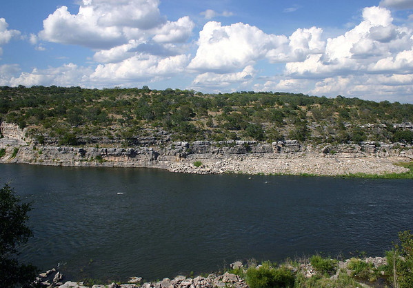 Along the Colorado River - just below the confluence with Flat Rock  Creek - located in the south-central area of Burnet county - Edwards Plateau ecoregion - Hill Country of Texas.
