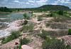 Southward down the Llano River - from atop the river island and Eagle's Beak.