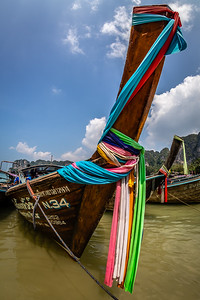 Longtail Boat in full Regalia . Krabi