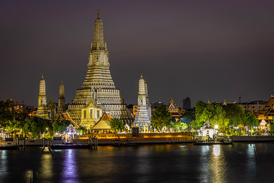 Wat Arun on the banks of The Chaophrya River