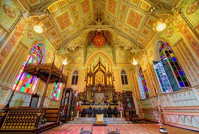 Interior of Wat Niwet Thammaprawat, Bang Pa-In, Thailand (2)