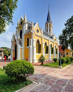 Exterior of Wat Niwet Thammaprawat, Bang Pa-In, Thailand