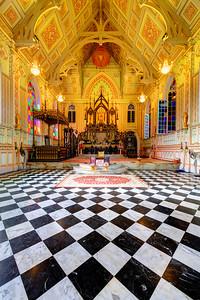 Interior of Wat Niwet Thammaprawat, Bang Pa-In, Thailand (1)