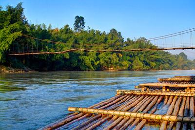 Bambo Raft, Saiyoke, Kanchanaburi, Thailand