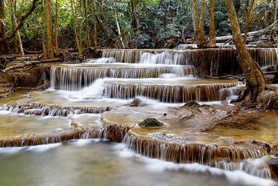 Huay Mae Khamin Waterfall, Kanchanaburi, Thailand (3)