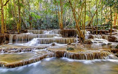 Huay Mae Khamin Waterfall, Kanchanaburi, Thailand (1)