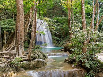 Erawan Falls (Level 4), Kanchanaburi,Thailand