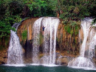 Jump!, Sai Yok Noi Falls,  Kanchanaburi, Thailand
