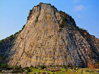 World's Biggest Buddha Image (Kao Chee Chan), Pattaya, Chonburi