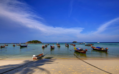 Long Tail Boats, Koh Lipe, Thailand (1)