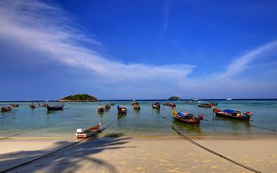Long Tail Boats, Koh Lipe, Thailand (1)
