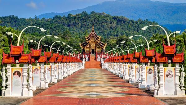 Chiang Mai, Royal Pavilion (Ho Kham Luang)  Royal Park Ratchaphruek  Thailand (1)