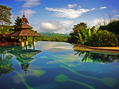 Infinity Edge Pool, Anantara Golden Triangle Resort, Chiang Rai