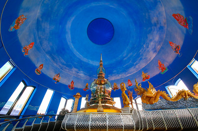 Chiang Rai, Chedi Kaew Interior, Wat Thaton