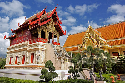 Library of Wat Phra Singh, Chiang Mai, Thailand
