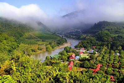 View to Myanmar Border, Kok River Valley, Tha Ton, Chiang Rai
