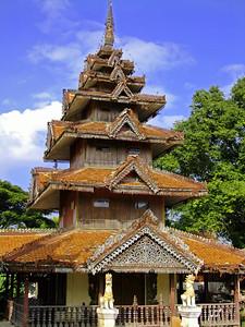 Burmese style, Multi tier Temple, Chiang Rai