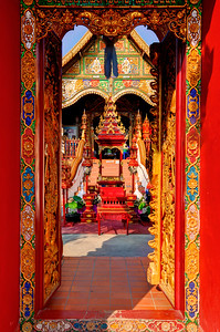 Chiang Rai, Red Temple Entrance, Wat Ming Muang