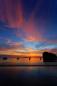 Spectacular Sunset, Andaman Sea, Pak Meng, Si Kao, Trang Province, Southern Thailand (1)