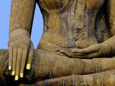 Subduing Mara, Calling the Earth to Witness, Seated Buddha, Sukhothai, Thailand