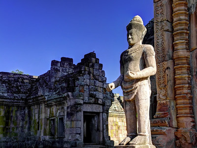 Guardian at the Central Sanctuary,  Prasat Hin Khao Phanom Rung, (UNESCO)  Thailand