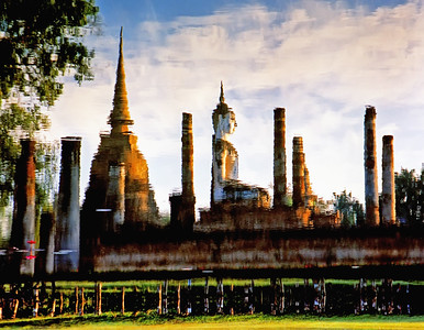 Reflection of Wat Mahathat, Sukhothai