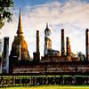 Reflection of Wat Mahathat, Sukhothai