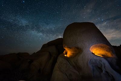 Skull Rock at Night