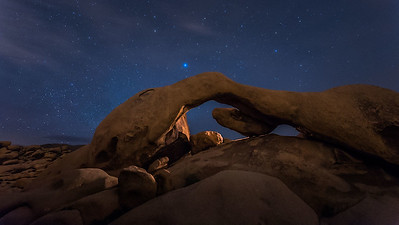 Blue Star over Arch Rock