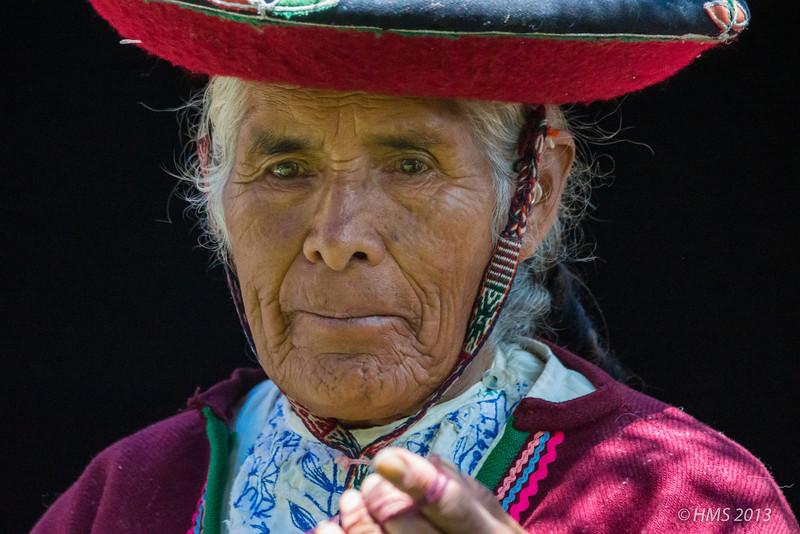 Woman in traditional dress, Cuzco, Peru.