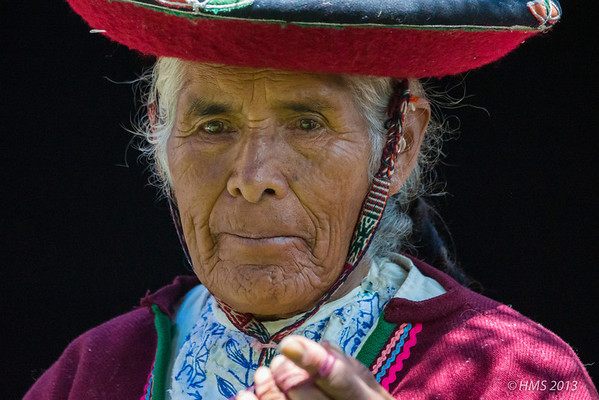 Woman in traditional dress, Cuzco, Peru.