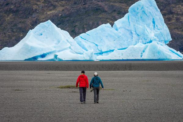 Large Iceberg in river near Grey Glacier