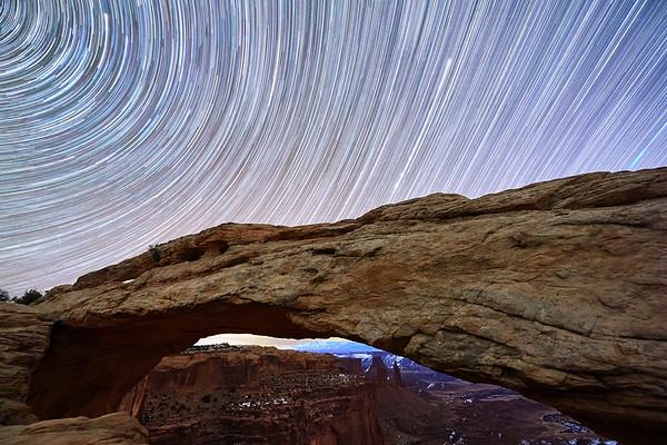 Mesa Arch & Star Trails - Canyonlands National Park, Utah