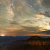 Night With Milkyway and Moonglow - North Rim Grand Canyon NP, Arizona<br /> *<br /> Nikon D5, 14-24mm f/2.8, f/2., 30 sec, ISO 12,800<br /> *<br /> I've imagined a Milkyway over the Grand Canyon image for about five years, since I got interested in night photography. I tried to get that shot once about four years ago with less than satisfactory results. Despite lots of intention to try again, scheduling a visit in the right night/moon illumination conditions is a challenge. Well, it all came together last weekend.<br /> *<br /> While the moon hadn't set yet, making night imagery a challenge, I'm helped by the relatively good amount of cloud cover leftover from the afternoon monsoon showers. Normally I don't like clouds when shooting the Milkyway. In this case, it helps a lot, making a really complex image. Not only that, the clouds really help lower the Moon's intensity by hiding it to the right of this image. About an hour later with the moon below the horizon, the image here is a lot different. *<br /> If you're wondering, the two lights on the canyon wall are mostly likely hikers making a descent into Phantom Ranch on the Colorado River. This is pretty impressive considering the lights are about 20 miles away from where I'm shooting.<br /> ____________________<br /> *<br /> #Nikon #Nikonphotography #naturephotography #milkyway #night #astrophotography #grandcanyon #arizona #northrim
