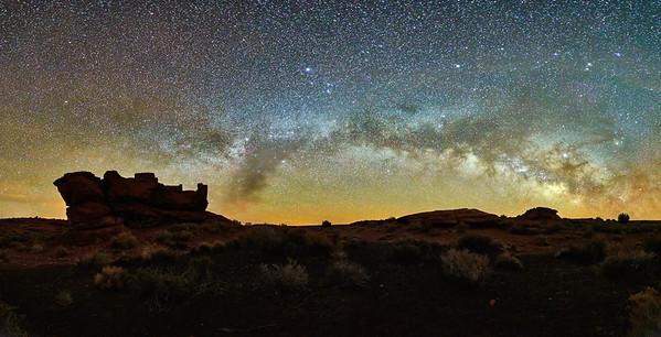 Wupatki Ruin & Milky-Way #1 - Wupatki National Monument, AZ