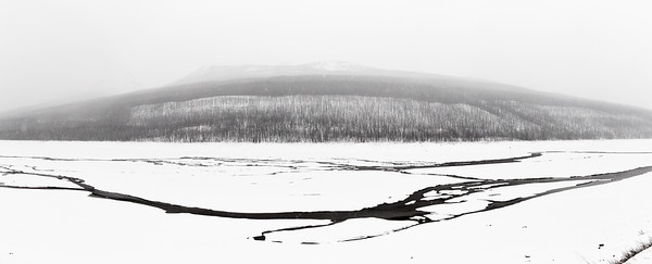 Abstract of Medicine Lake in Winter - Jasper National Park, Alberta Canada