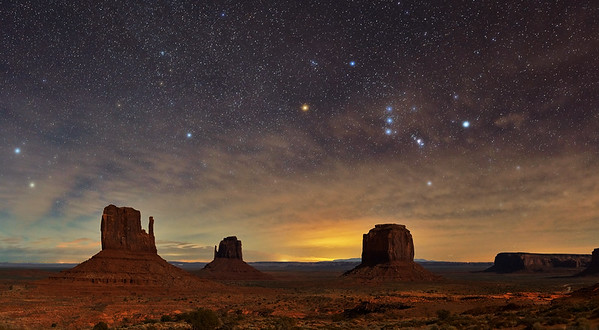 Monument Valley and Orion - Monument Valley Tribal Park, Navajo Nation