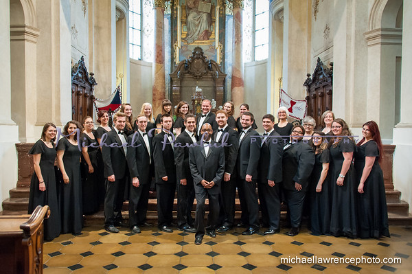 The Crane Choir performs at St. Nicholas Church, Prague
