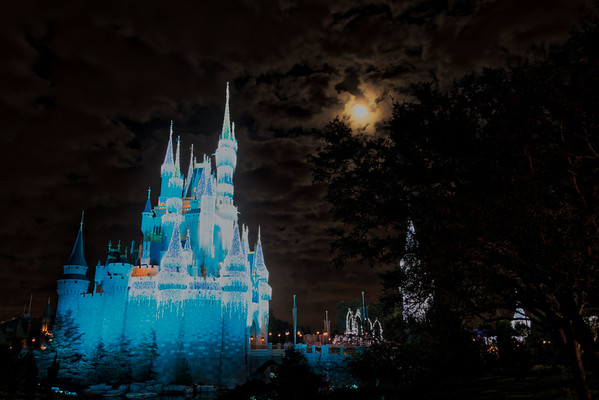 Moon over Cinderella Castle