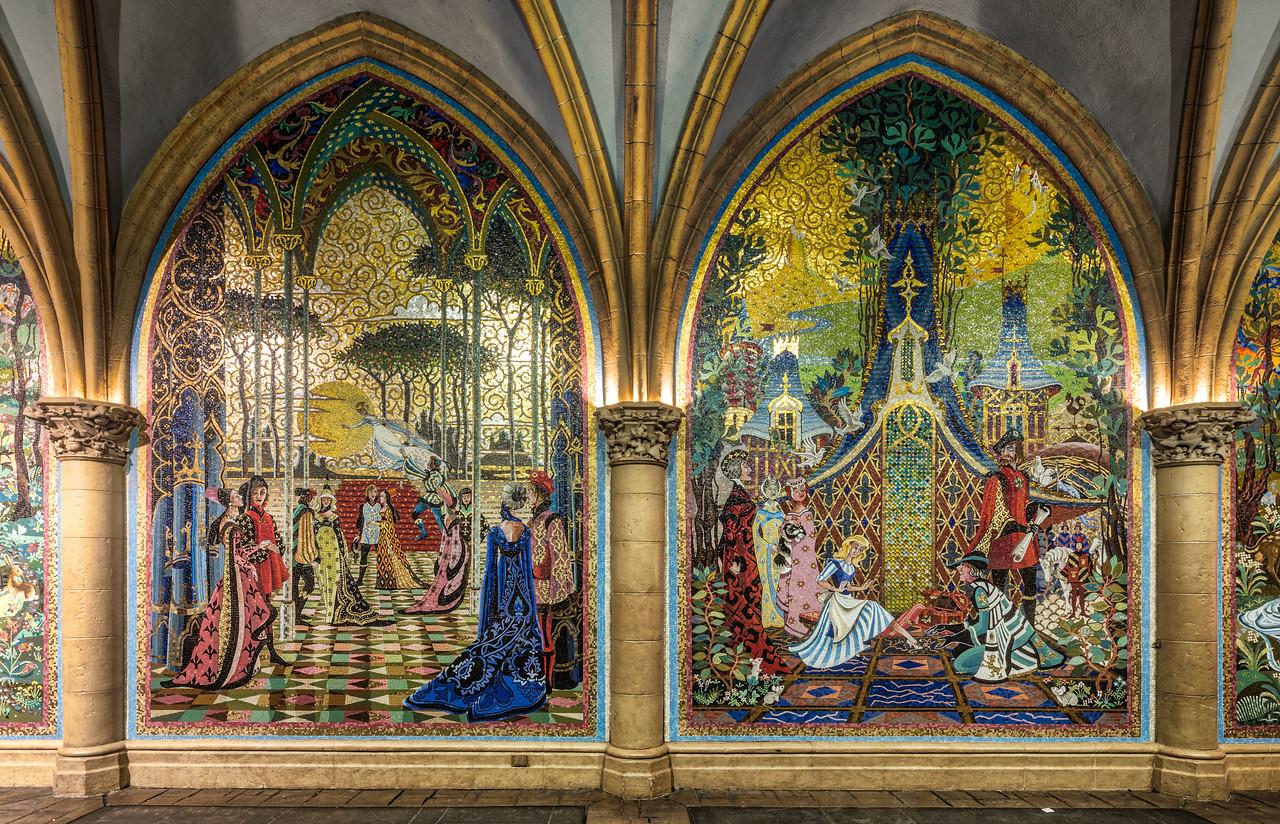 Hallway through Cinderella's Castle